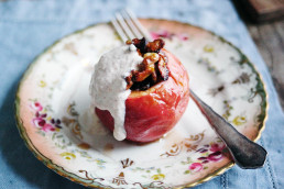 Amelia Freer's Baked Apples with Almond Cream - vegan, gluten & dairy free