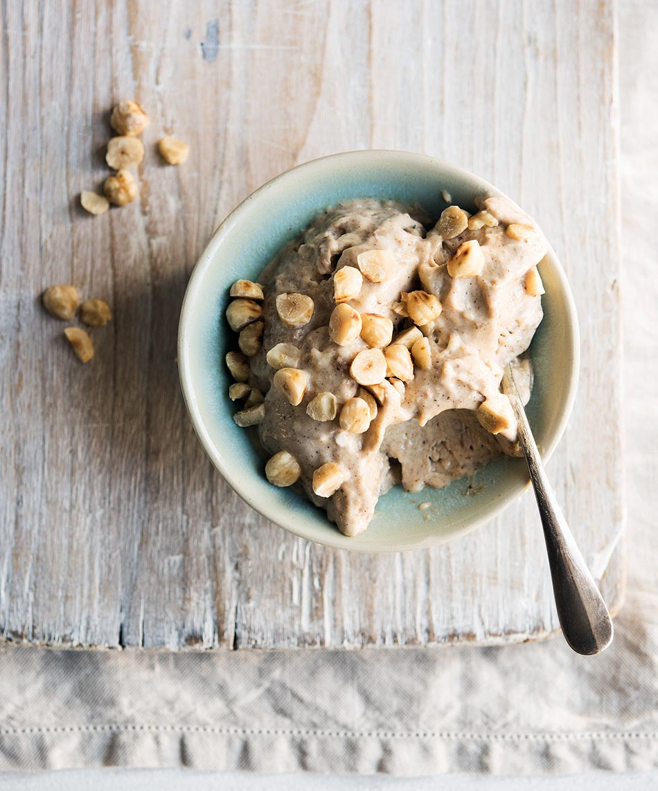 This Vegan & Dairy Free Banana Nutty Nice Cream is a wonderful healthy alternative to ice-cream but just as satisfying