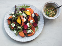 Beetroot & Squash Salad with a Hazelnut Dressing