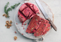 Beetroot, Rosemary and Walnut Soda Bread