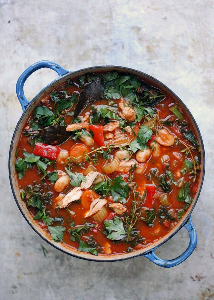 Chicken, Kale & Bean Stew by Amelia Freer
