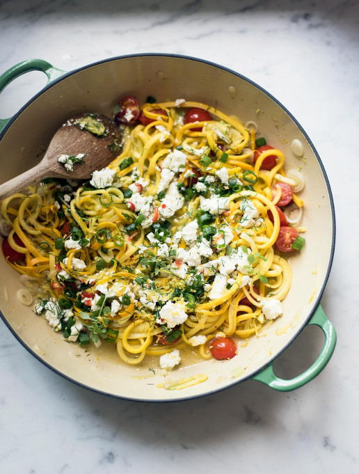 Yellow Courgette, Herb & Feta Salad by Amelia Freer