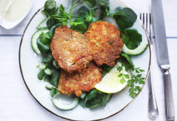 Crab Cakes with homemade mayo (gluten-free) by Amelia Freer