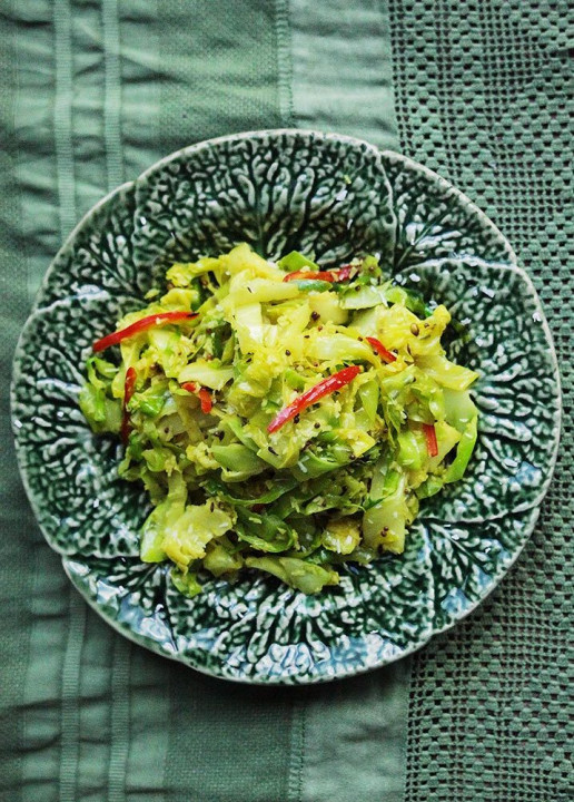 Indian Coconut Cabbage by Amelia Freer