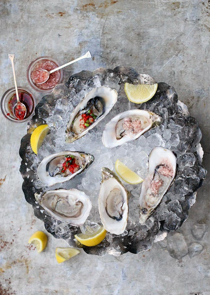 Oysters 3-Ways by Amelia Freer
