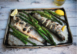 Grilled Asparagus with Fish