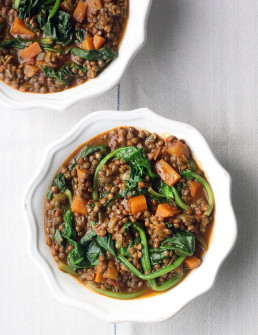 Vegan Puy Lentil Stew by Amelia Freer
