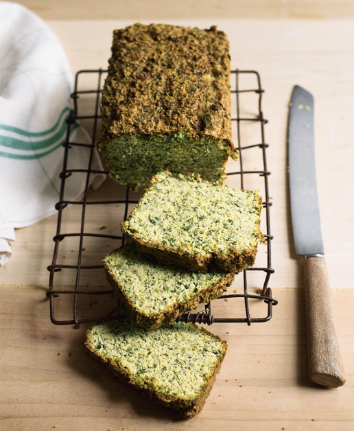 Gluten Free Herby Green Bread by Amelia Freer