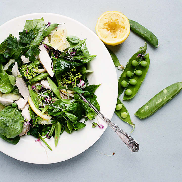 Summery Lemon & Herb Warm Chicken Salad