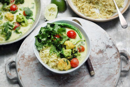Fragrant Golden Monkfish Curry & Cauliflower Rice