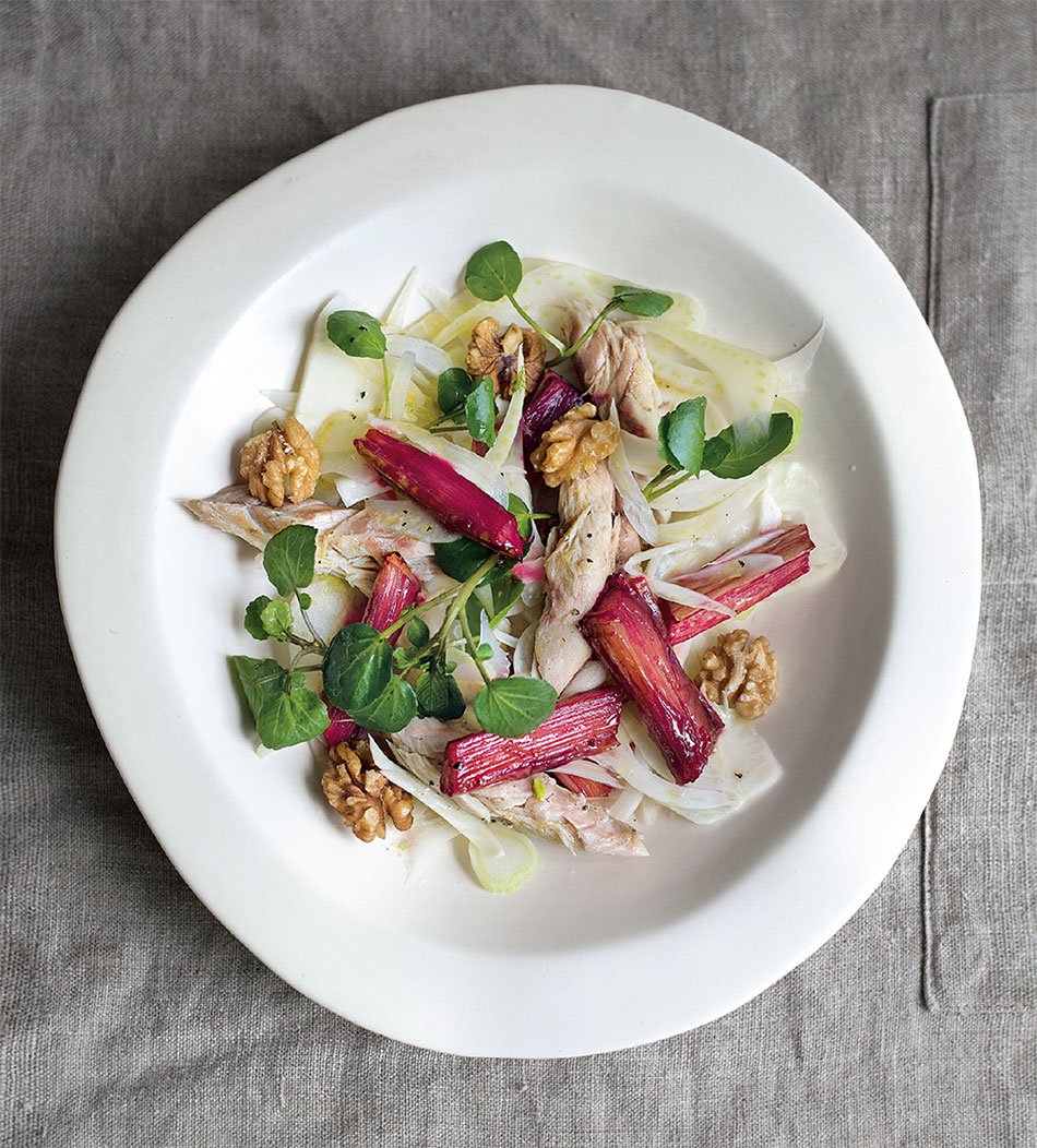 Amelia Freer's Mackerel & Rhubarb Salad