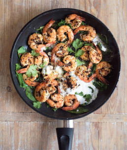 Spiced Prawns with Spinach & Coconut by Amelia Freer