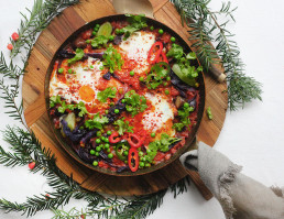 Shakshuka using leftover vegetables