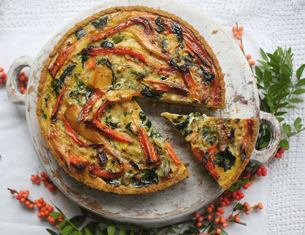 Turkey, Carrot & Parsnip Quiche by Amelia Freer