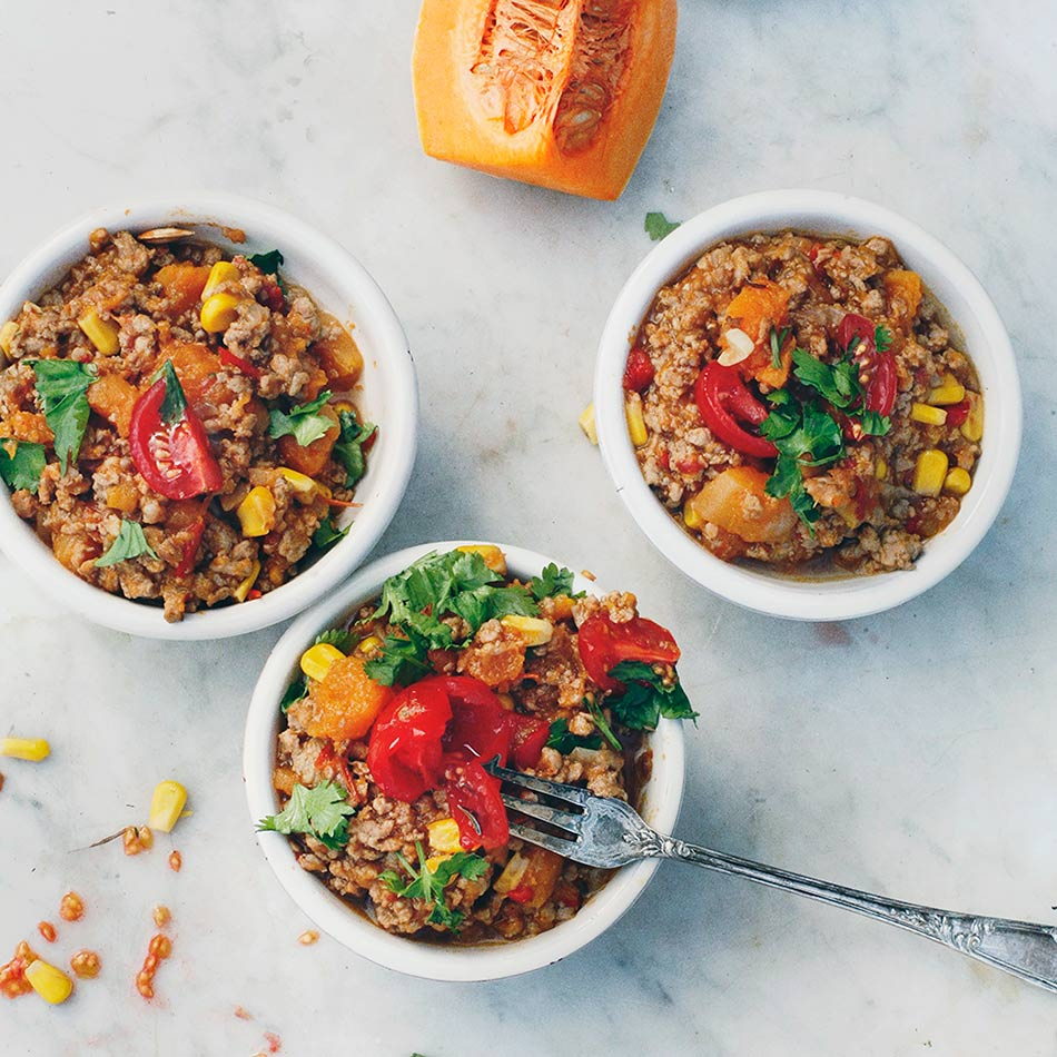 Turkey & Pumpkin Chilli by Amelia Freer
