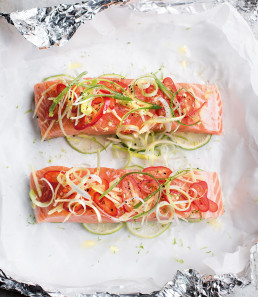 Wild Salmon Parcels with Asian-Style Salad