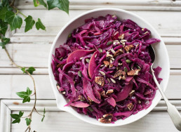 Braised Red Cabbage with Apple & Pecan