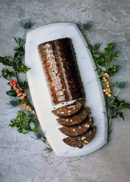 Amelia Freer's Christmas Chocolate Truffle Log, gluten & diary free