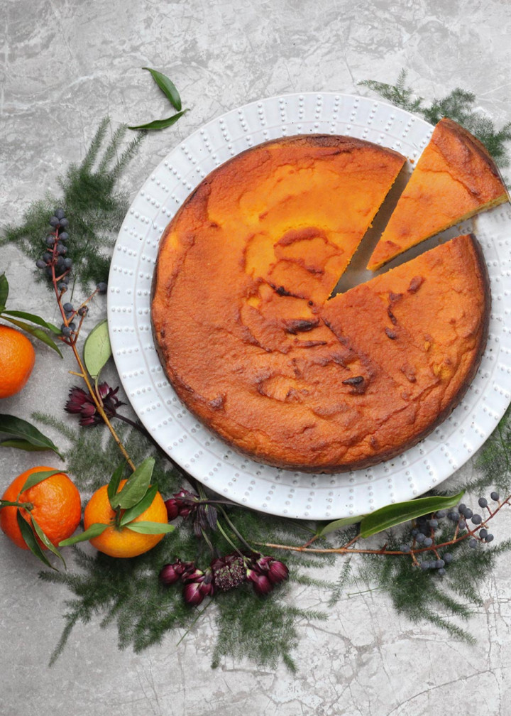 Amelia Freer's Clementine & Olive Oil Christmas Cake - gluten & dairy free