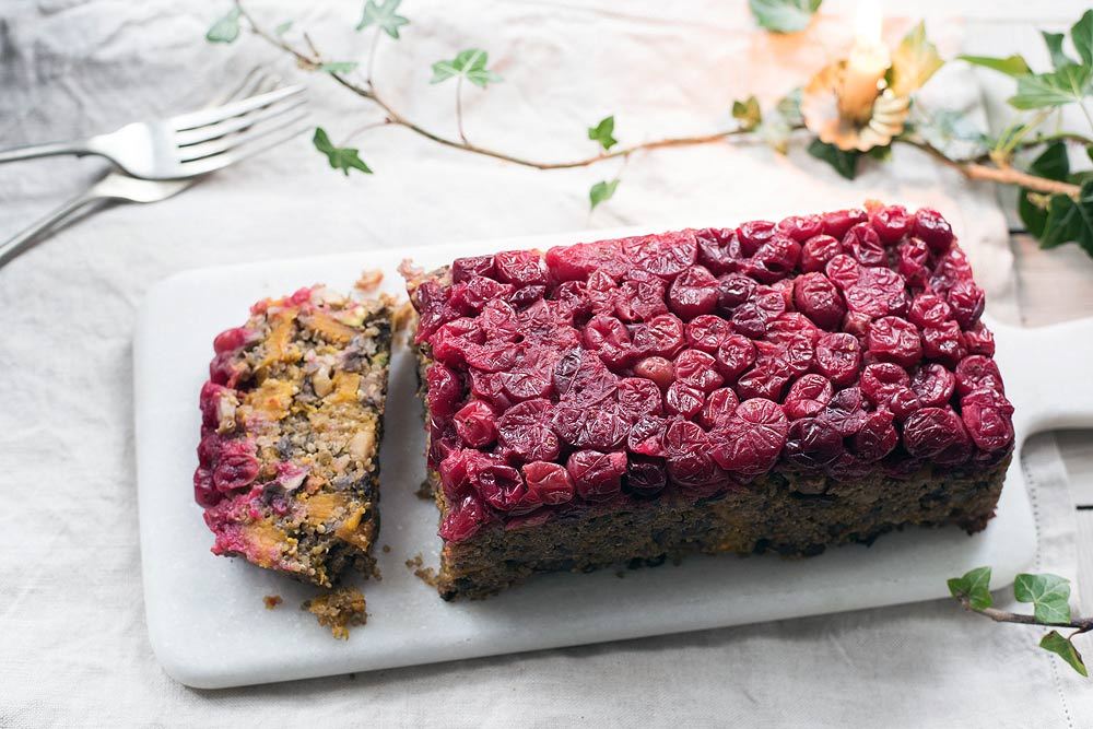 Festive Quinoa Nut Roast with Cranberries by Amelia Freer
