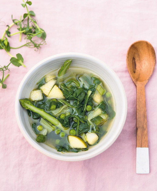 This nutrient dense vegetable broth is a beautiful way to start the day,