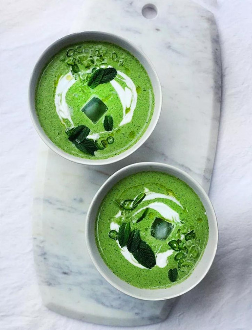 Amelia Freer's Cucumber and herb chilled gazpacho summer soup