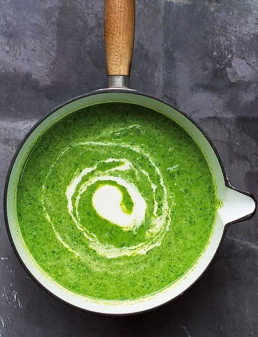 Amelia Freer's Green Soup & Cashew Cream