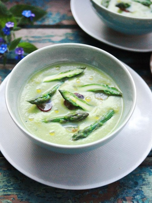 Amelia Freer's Chilled Summer Asparagus Gazpacho