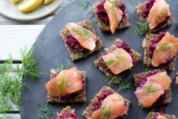 Smoked Salmon & Buckwheat Toast Canapé