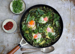 Amelia Freer's Spicy Green Shakshuka