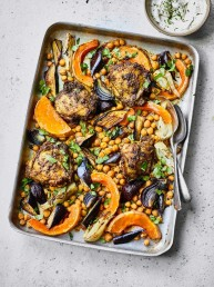 Chicken & Squash Tray Bake by Amelia Freer