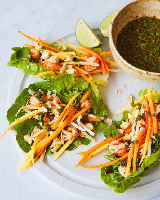 Asian Crayfish Lettuce Cups