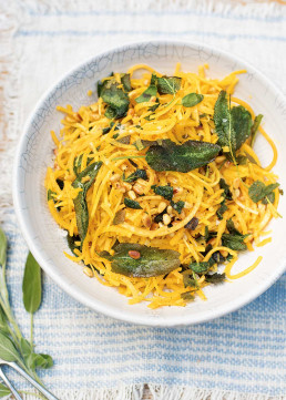 Butternut 'Squashetti' with Sage & Pine Nuts