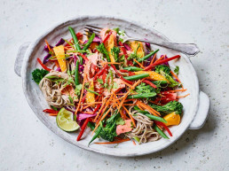 Salmon Soba Noodle Salad by Amelia Freer