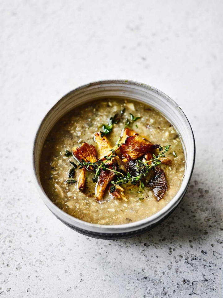 Mushroom, thyme and walnut soup by Amelia Freer