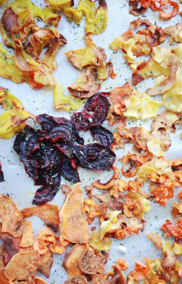 Root Vegetable Crisps with Herb Salt