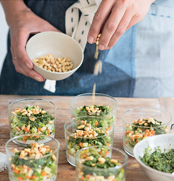 Crunchy Vegetable 'Tabbouleh' with Coconut Cream & Herb Dressing