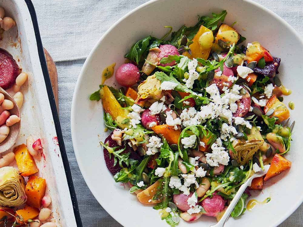 Autumn Salad with Artichokes and Beetroot